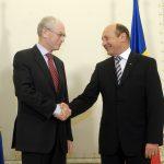 Traian Băsescu a discutat cu Herman van Rompuy, preşedintele Consiliului European, despre relansarea economică şi aderarea României la Schengen