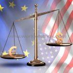 Euro vs. dolar. Moneda unică europeană va avea de pierdut din cauza recesiunii