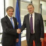 Dacian Cioloş s-a întâlnit la Bruxelles cu Ministrul agriculturii din Republica Moldova, Vasile Bumacov