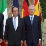 Monti, Rajoy, Merkel şi Hollande stabilesc planul pentru salvarea Uniunii