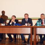 """Rectorul Ioanel Sinescu şi Luc Montagnier, laureatul Premiului Nobel pentru Medicină – împreună la Lansarea Proiectului """"Momentul Magellan"""" în România"""