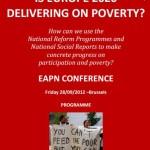 """Conferința EAPN """"Europa 2020: Care vor fi rezultatele împotriva sărăciei?"""", 28 septembrie"""