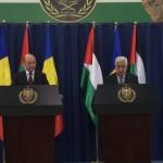 """Video exclusiv. Traian Basescu, intalnire cu presedintele Palestinei, Mahmoud Abbas. """"Nimeni nu va nega istoria, dar scopul nu este restabilirea adevarului istoric, ci pacea"""""""