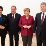 Blaga şi Predoiu s-au întâlnit cu Merkel  la Berlin. Ce spune Predoiu despre cea mai puternica femeie din Europa