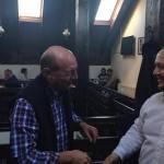 FOTO. De la miting, la restaurant: Cristian Preda a postat pe Facebook o fotografie cu Traian Băsescu, Adrian Papahagi şi Teodor Paleologu la restaurant, după mitingul PMP