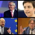 """LIVE TEXT şi VIDEO. Juncker, Keller, Schulz şi Verhofstadt, PRIMA DEZBATERE pe tema preşedinţiei COMISIEI EUROPENE. Juncker: """"Susțin semnarea iminentă a Acordului de Asociere cu Republica Moldova"""". Schulz: """"Vreau să fiu președintele unei Comisii Europene care să reflecte rezultatele alegerilor"""". Verhofstadt: """"Comisia condusă de mine va respecta egalitatea de gen"""". Keller: """"Propunem o UE căreia să îi pese de oameni"""""""