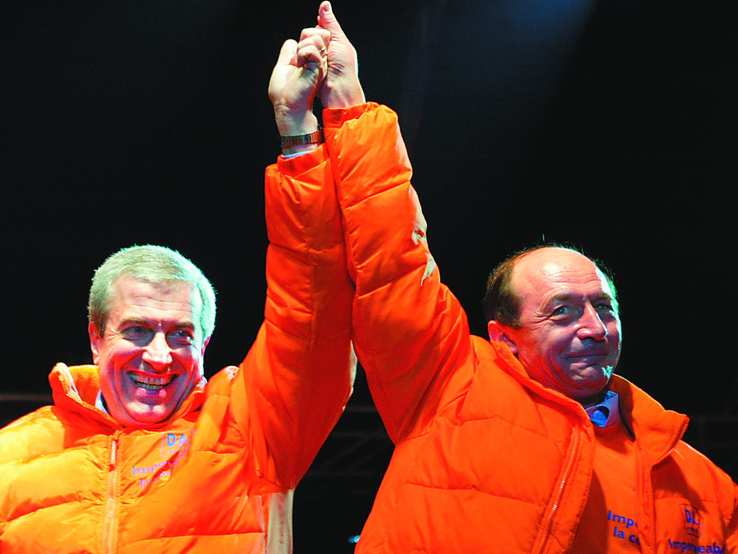ROMANIA-ELECTIONS-BASESCU CELEBRATION