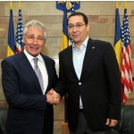 VIDEO Victor Ponta s-a întâlnit cu șeful Pentagonului