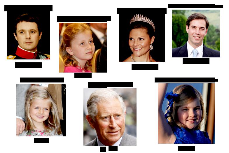 mostenitorii coroanelor regale