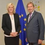 Corina Creţu, întâlnire cu actualul comisar pentru Politici Regionale, Johannes Hahn