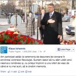 Președintele Klaus Iohannis a depus o coroană de flori la Monumentul Revoluției din Piața Universității