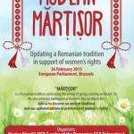 Europarlamentarii români promovează în mod inedit drepturile femeii în Parlamentul European, folosind tradiția românească a mărțișorului