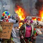 Proteste violente la inaugurarea noului sediu al BCE de la Frankfurt