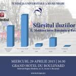 """Dezbatere """"Sfârșitul iluziilor. R. Moldova între România și Rusia"""", 29 aprilie"""