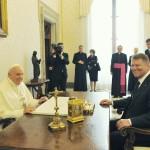 Klaus Iohannis, primit în audiență la Papa Francisc înaintea summitului din Roma