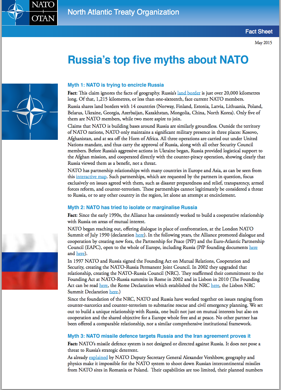 Russia-NATO myths