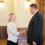 Preşedintele Klaus Iohannis, întâlnire cu ministrul german al Apărării, Ursula von der Leyen