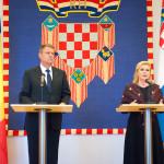 """VIDEO CORESPONDENȚĂ. Klaus Iohannis, vizită oficială în Croația: """"Am discutat despre chestiunea Schengen și este destul de evident că aspectul corupției este luat în seama când vorbim pe această temă"""""""