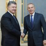 """Mutări importante realizate de Petro Poroșenko: """"Îndeplinim orice efort necesar pentru a asigura viitorul Ucrainei europene"""". Fostul premier britanic Tony Blair a fost numit consilier al președintelui Ucrainei"""