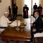 Ce au discutat Papa Francisc şi Vladimir Putin la Vatican