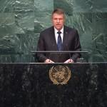 VIDEO Într-un discurs adresat liderilor lumii reuniți la ONU, Klaus Iohannis a promovat candidatura României pentru un loc de membru nepermanent la Consiliul de Securitate
