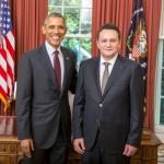 Ambasadorul George Maior, întâmpinat de Barack Obama la Casa Albă