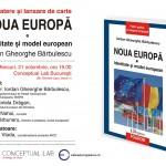 VIDEO, ora 19.30 Lansarea volumului Noua Europă. Identitate şi model european, semnat de Iordan Gheorghe Bărbulescu