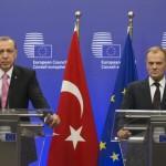"""Criza imigranților: Recep Tayyip Erdogan și Donald Tusk au discutat despre """"o zonă tampon"""" în Siria"""