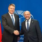 LIVE VIDEO și TEXT. Martin Schulz, după prima întrevedere bilaterală cu Klaus Iohannis: Am avut deosebitul privilegiu de a discuta în sfârşit cu preşedintele unui stat, o oră întreagă, în limba germană