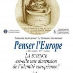 """Seminarul internațional """"Penser l'Europe"""" – vineri și sâmbătă, la București"""