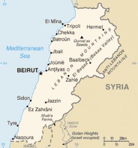 Lebanon map wikipedia