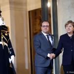 Cancelarul german, Angela Merkel, îl va primi luni la Berlin pe președintele  Francois Hollande pentru o reuniune de adio
