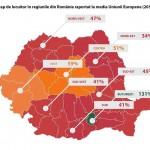 Infografic Monitorul Social: PIB/cap de locuitor din regiunea București-Ilfov – 131% din media UE