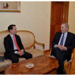 Lazăr Comănescu, întrevedere cu președintele Consiliului de Afaceri Americano – Român (AMRO), Eric Stewart