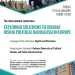 Extremismul politic din Europa, sub lupa specialiștilor la o conferință internațională în București