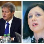 Dacian Cioloș se întâlnește luni la București cu comisarul european pentru Justiție, Vera Jourova. Agenda vizitei oficialului european