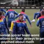 """GALERIE FOTO. Cum a reacționat presa internațională la ecuațiile de pe tricourile echipei naționale de fotbal: """"Foarte bine, România!"""""""