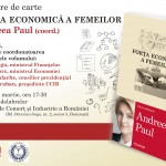 """LIVE VIDEO 29 martie ora 17:30 – Lansarea volumului """"Forța economică a femeilor"""", de Andreea Paul"""