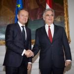 """Întâlnire între Donald Tusk și cancelarul austriac, Werner Faymann înainte de summit-ul UE: Deschidem un nou capitol în lupta noastră împotriva crizei migranţilor – se numeşte """"Back to Schengen"""""""