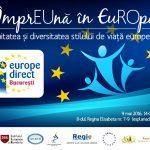 """Ziua Europei sărbătorită în Piața Universității alături de Europe Direct București și IER: """"""""ÎmprEUnă în EuROpa – Unitatea și diversitatea stilului de viață european"""""""