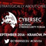 A doua ediție a Forumului European privind Securitatea Cibernetică  – CYBERSEC va avea loc în Cracovia pe 26 – 27 septembrie