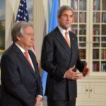 """Viitorul secretar general al ONU către John Kerry: """"Cooperarea dintre SUA și Națiunile Unite, esențiale pentru a îmbunătăți situația mondială actuală"""""""