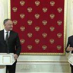 Igor Dodon, după întâlnirea cu Vladimir Putin: În 2018 vrem anularea Acordului de Asociere cu Uniunea Europeană