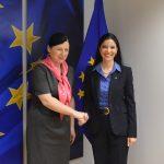 Ana Birchall s-a întâlnit cu Vera Jourova, comisarul european pentru Justiție: Am făcut un apel pentru o evaluare cuprinzătoare a CE care să ia în considerare inclusiv informațiile furnizate de autoritățile române pe subiectele de interes