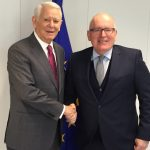 Comisia Europeană vrea să actualizeze obiectivele MCV pentru România. Ce i-a spus Frank Timmermans lui Teodor Meleșcanu