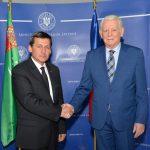 Ministrul Teodor Meleșcanu, întrevedere cu omologul său turkmen, Rashid Meredov: Potențialul economic dintre România și Turkmenistan trebuie capitalizat