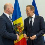 Donald Tusk, întrevedere cu premierul Republicii Moldova: Aveți tot sprijinul meu personal și al UE în avansarea reformelor
