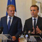 """Întâlnire Emmanuel Macron-Donald Tusk: Doresc să lucrez împreună cu instituțiile europene în acțiunile de """"refondare"""" a Europei"""