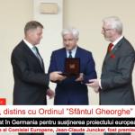"""Președintele Klaus Iohannis, premiat la Berlin: Primesc cu mare plăcere Ordinul """"Sfântul Gheorghe"""" şi îl dedic prieteniei româno-germane"""
