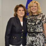 """Comisarul Corina Crețu, discuții la Bruxelles cu ministrul Fondurilor Europene, Rovana Plumb: """"Progresele înregistrate recent sunt îmbucurǎtoare"""""""